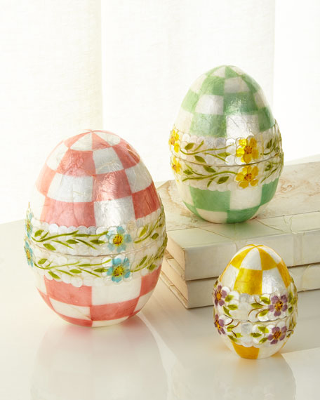 MacKenzie-Childs Pastel Floral Nesting Eggs