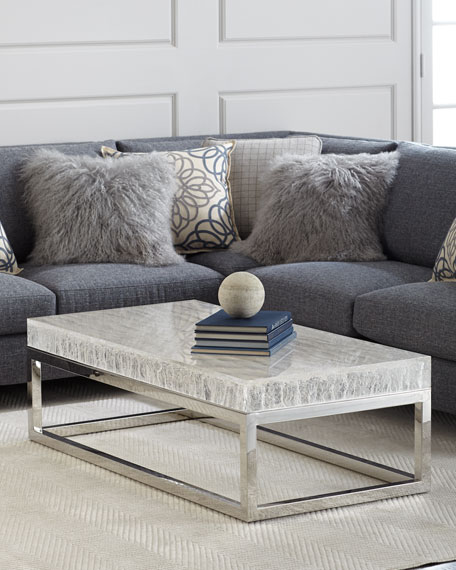 Image 1 of 5: Bernhardt Elsa Arctic Coffee Table