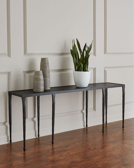 Halden Wrought Iron Console Table