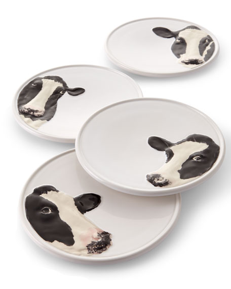 Bordallo Pinheiro Meadow Cheese Plates, Set of 4