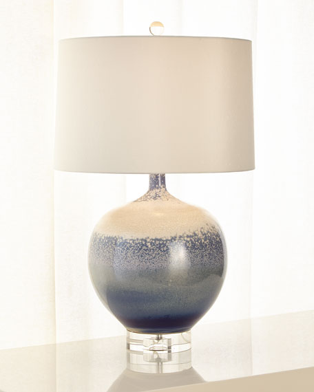 John-Richard Collection Sea and Surf Porcelain Lamp