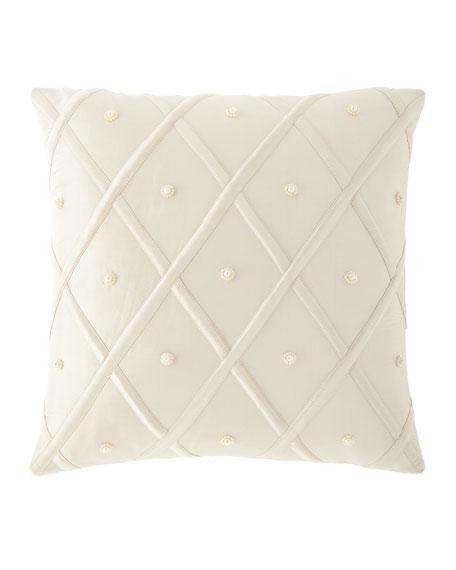 """Austin Horn Collection Luna Silk Pillow, 17""""Sq."""
