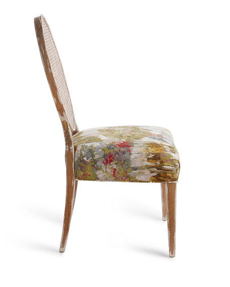 John-Richard Collection Bloom Oval Back Cane Chair