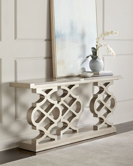 Image 1 of 5: Seth Lattice-Style Console Table
