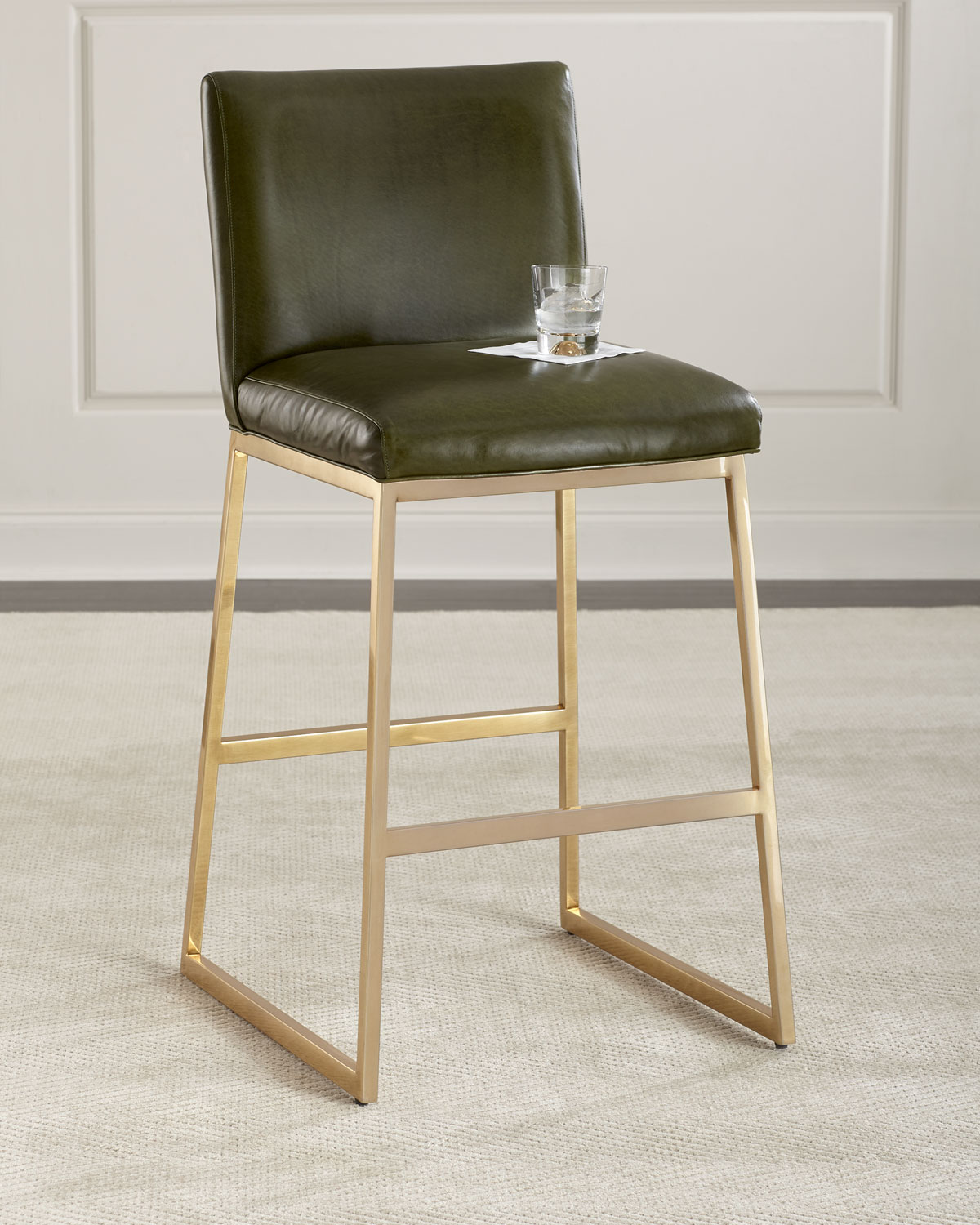 Massoud Reza Brass Barstool