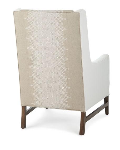 Massoud Lyric Tall Back Wing Chair