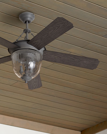 """Aged Galvanized Knightsbridge Indoor/Out Ceiling Fan, 52"""""""