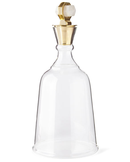 Arteriors Gold Levi Quartz Decanter