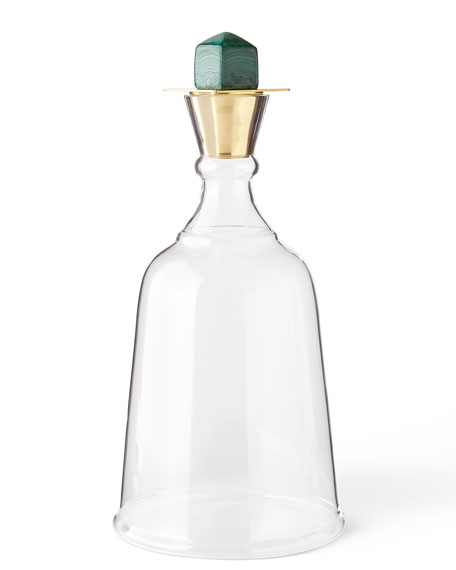 Arteriors Gold Levi Malachite Decanter