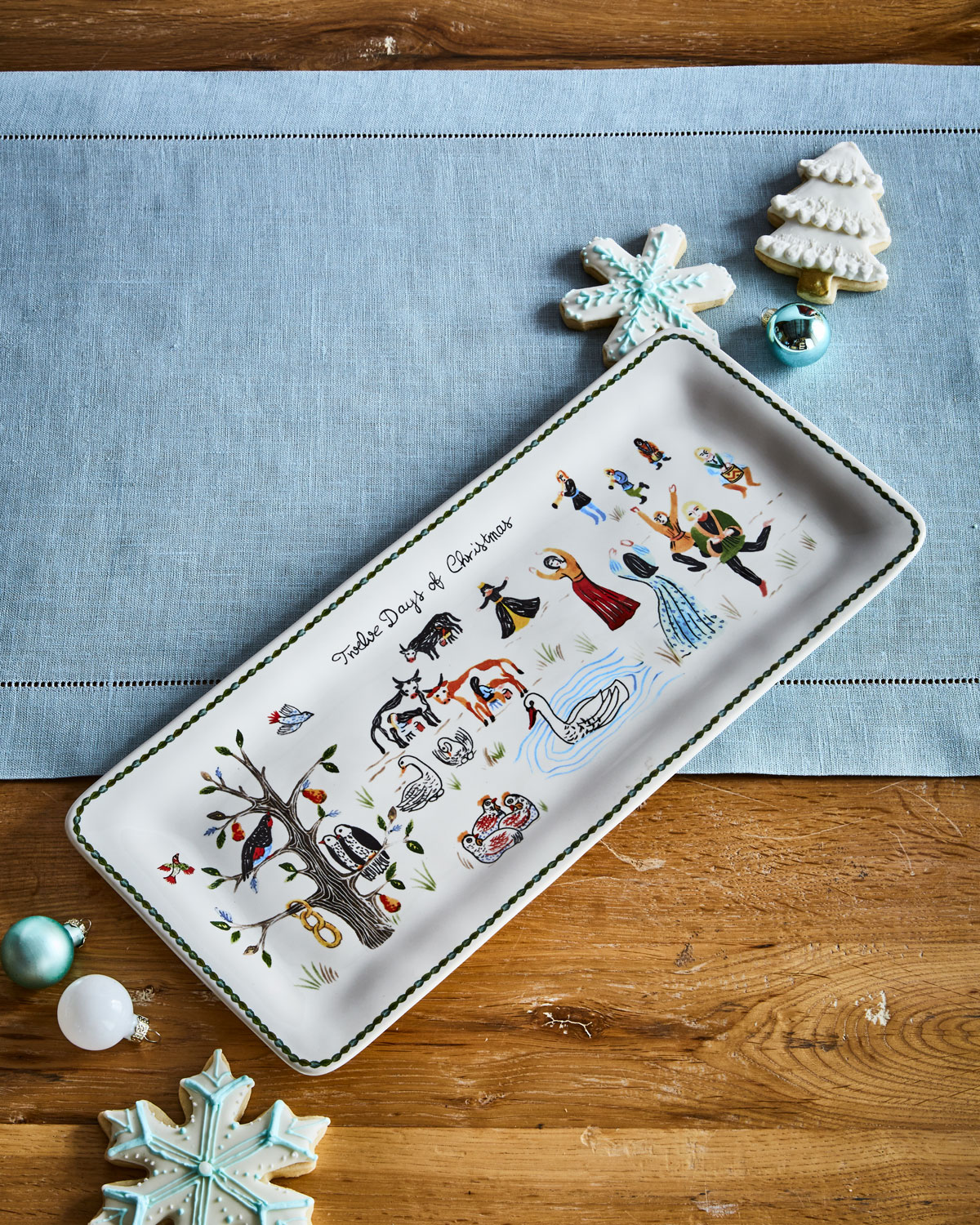 Juliska Twelve Days of Christmas Rectangular Hostess Tray | Neiman ...