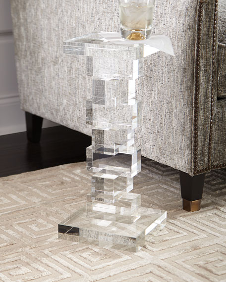 Petite Duchess Crystal Cube Side Table