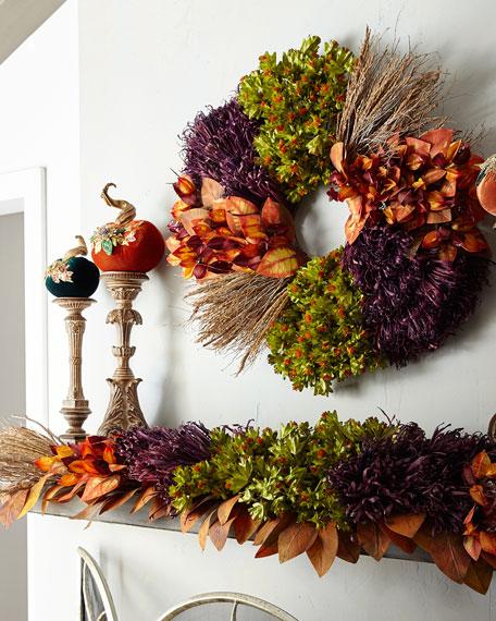 "Fall Harvest Wreath, 28"""