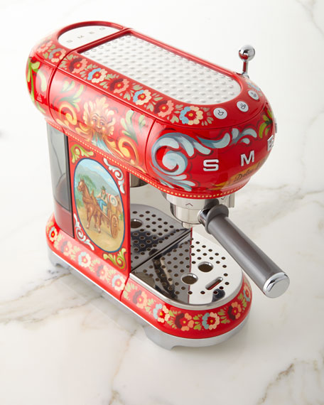 Image 3 of 3: Smeg Dolce Gabbana x SMEG Sicily Is My Love Espresso Machine