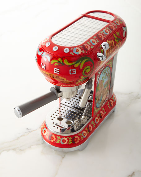 Image 1 of 3: Smeg Dolce Gabbana x SMEG Sicily Is My Love Espresso Machine