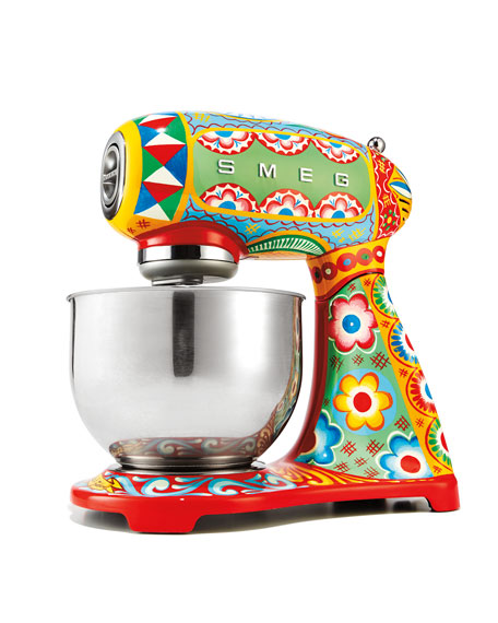 Image 2 of 3: Smeg Dolce Gabbana x SMEG Sicily Is My Love Stand Mixer