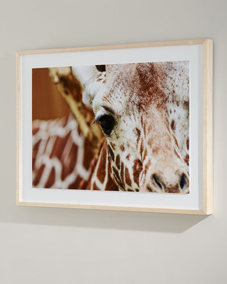 """Giraffe"" Photography Print on Canvas Framed Wall Art"