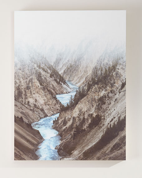 "Four Hands Art Studio ""Mountain River"" Photography Print on Maple Box Art"
