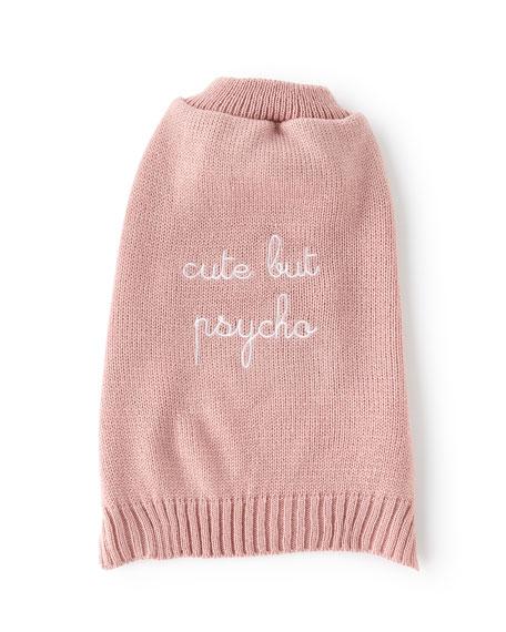 """Max-Bone """"Cute But Psycho"""" Dog Sweater"""