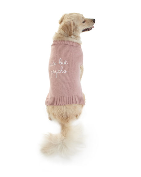 "Max-Bone ""Cute But Psycho"" Dog Sweater"