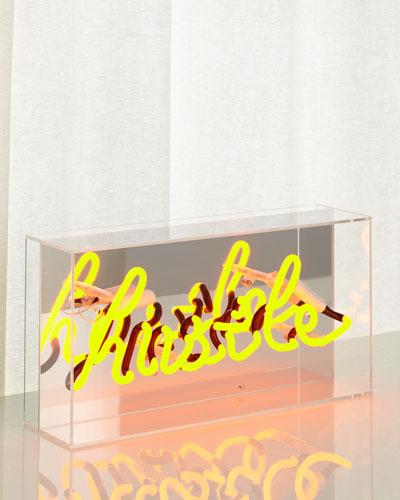 Hustle Acrylic Box Neon Sign