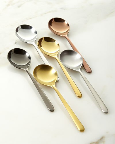 Due Assorted Coffee Spoons, Set of 6