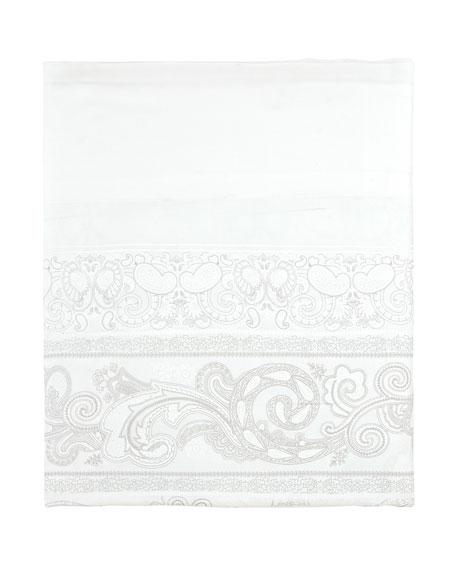 Anne de Solene Majeste 300 Thread-Count Paisley King Flat Sheet