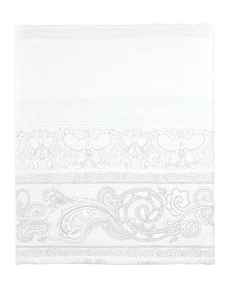 Anne de Solene Majeste 300 Thread-Count Paisley Queen Flat Sheet