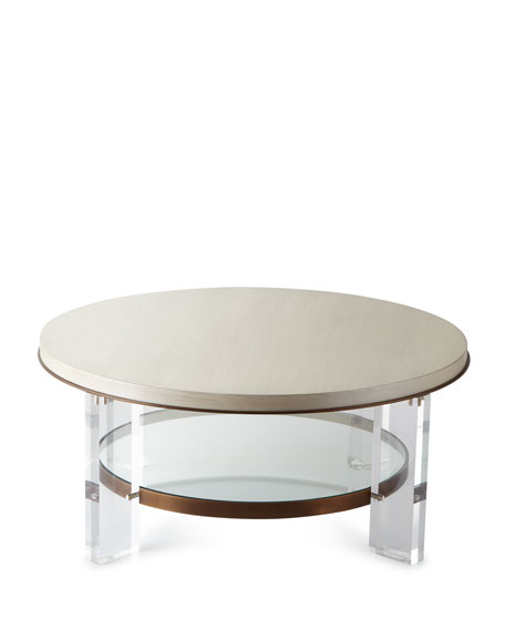 Ambella Malone Acrylic-Leg Coffee Table