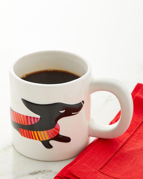 Neiman Marcus Sculpted Dog Ceramic Mug