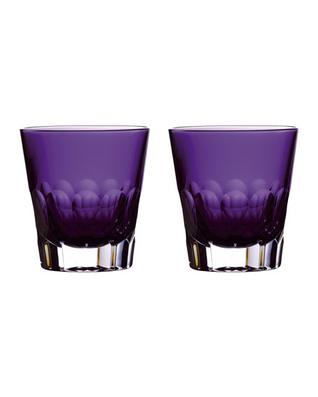 Waterford Crystal Jeff Leatham Icon Double Old-Fashioned Glasses, Set of 2 - Amethyst