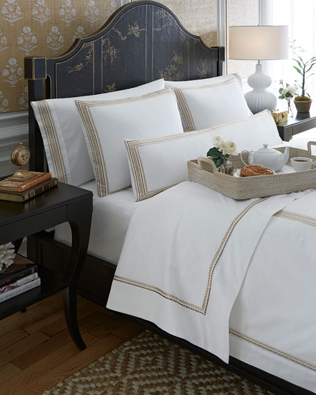 SFERRA Intreccio King Pillowcases, Set of 2