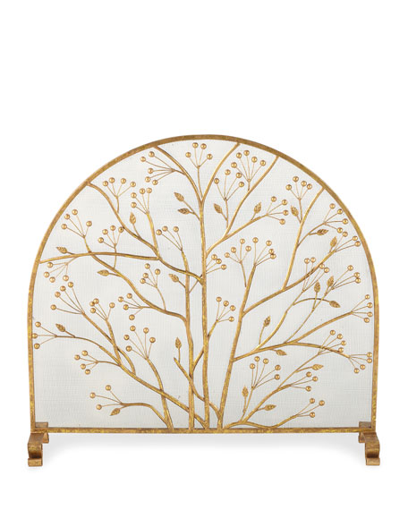 Twig and Berry Accents Fireplace Screen