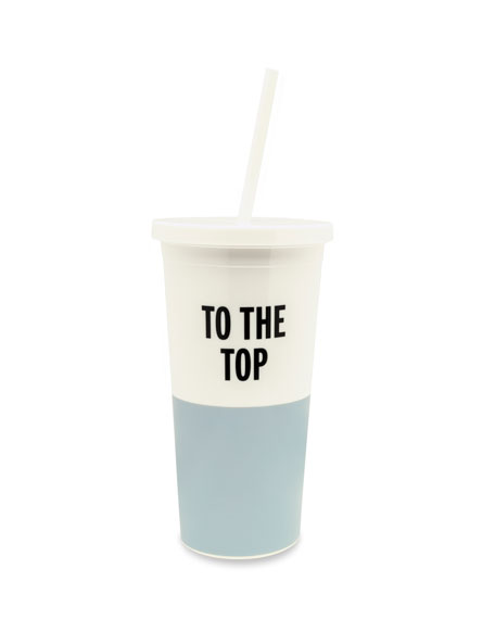"""kate spade new york """"to the top"""" tumbler with straw"""