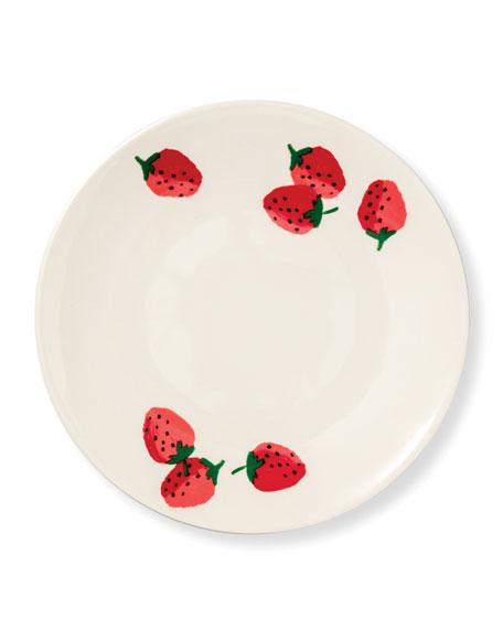 kate spade new york strawberries salad plate