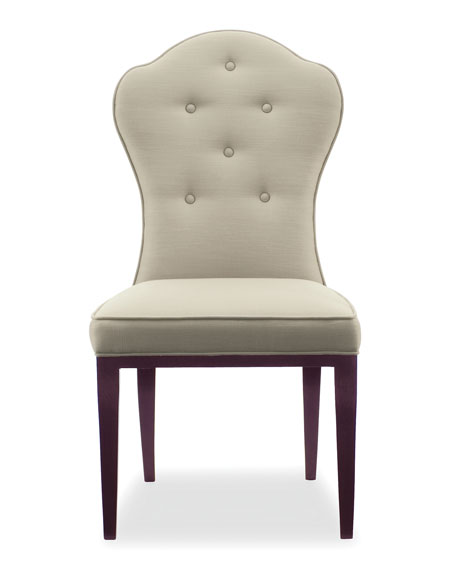 Bernhardt Haven Button Tufted Dining Side Chairs (Pair)
