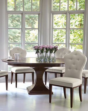 Bernhardt Haven 54 Round Dining Table With Leaf