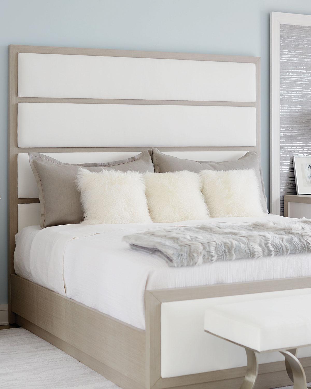 Bernhardt Axiom Tall Upholstered Panel Queen Bed