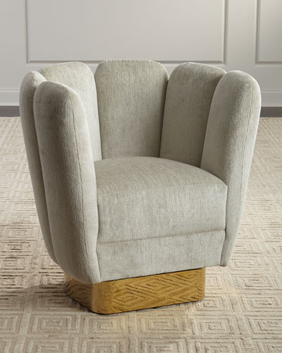 Gallery Brass Swivel Chair