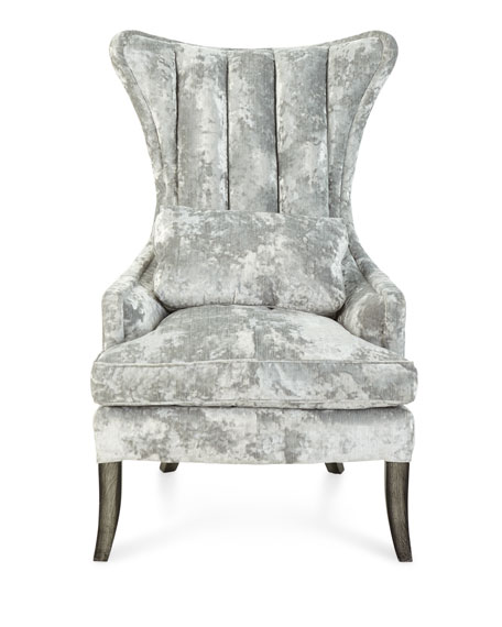 Old Hickory Tannery Arlene Channel-Tufted Wing Chair