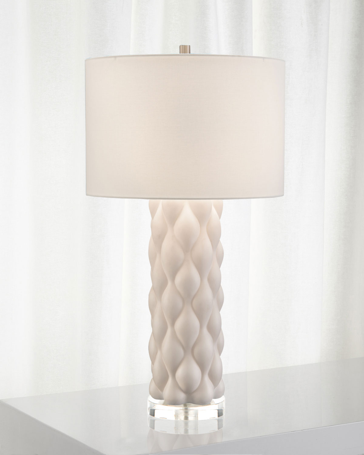 John-Richard Collection Billowy Textured Table Lamp