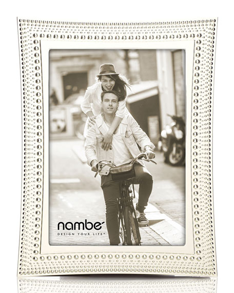 """Nambe Beaded Picture Frame, 5"""" x 7"""""""