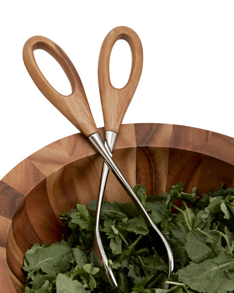 Image 2 of 2: Nambe Curvo Salad Scissors