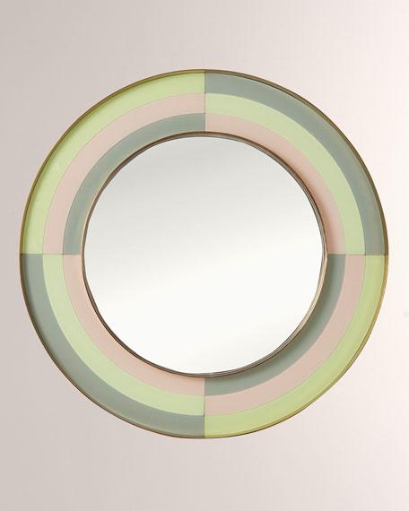 Jonathan Adler Harlequin Round Mirror