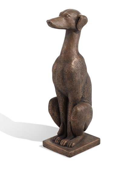 The Phillips Collection Greyhound Dog Bronze Sculpture