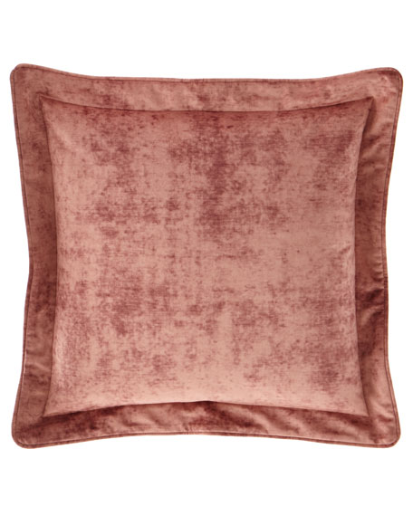 Austin Horn Collection All in Bloom Solid Velvet European Sham
