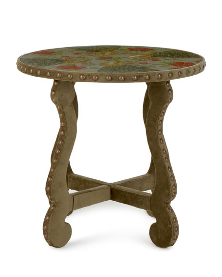 Haute House Peacock Embroidered Side Table