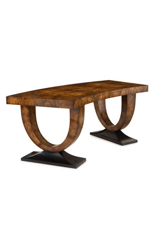 John-Richard Collection Curved Walnut Writing Desk