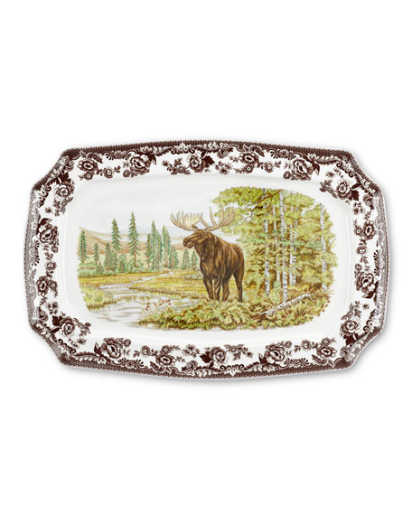 Spode Woodland Majestic Moose Rectangular  Platter