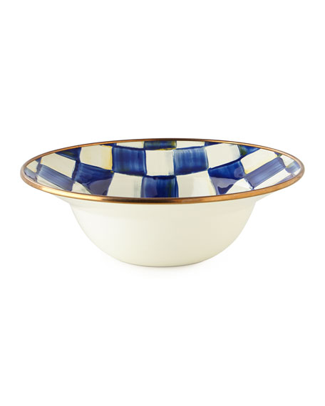 Image 1 of 2: MacKenzie-Childs Royal Check Breakfast Bowl