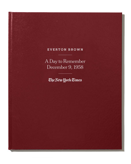 New York Times NYT Special Day Book